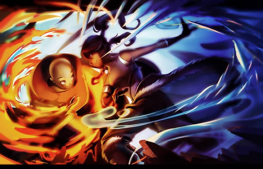 Legend of Korra vs. ATLA Aang by dou-hong
