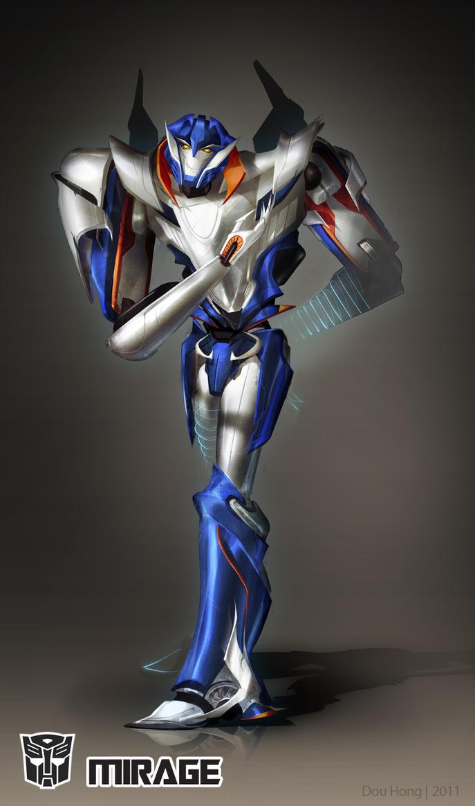 [Pro Art et Fan Art] Artistes à découvrir: Séries Animé Transformers, Films Transformers et non TF - Page 5 Transformers_prime__mirage_by_farfie_kins-d4e6cwc