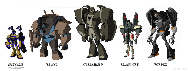 [Pro Art et Fan Art] Artistes à découvrir: Séries Animé Transformers, Films Transformers et non TF - Page 6 Tfa_combaticons_by_farfie_kins-d4esx4c