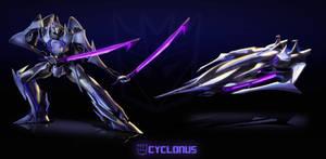 Transformers Prime: Cyclonus by dou-hong