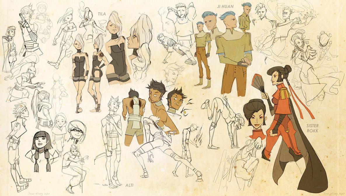 Legend of korra character concepts pt one by dou hong on deviantart legend of korra character concepts pt voltagebd Images