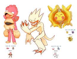 +Pokemon Fusion+ Pikaster, Electrduck, Slowchan