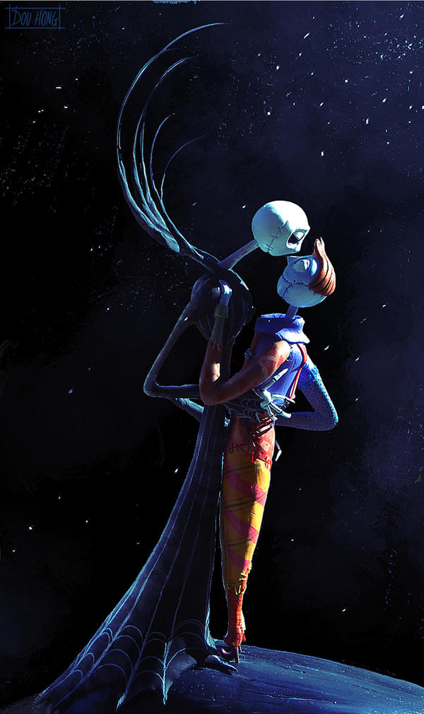 Nightmare before Christmas: Jane Skellington +Sal by dou-hong