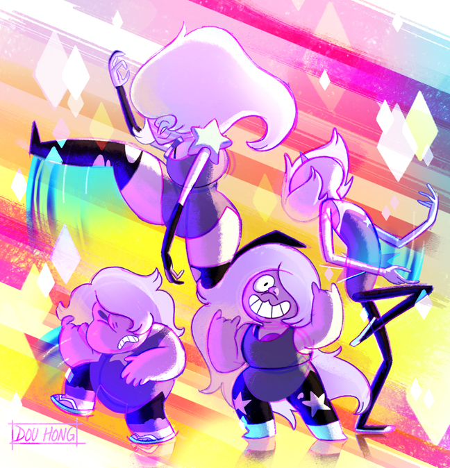 Steven Universe: Amethyst and the Amethysts!