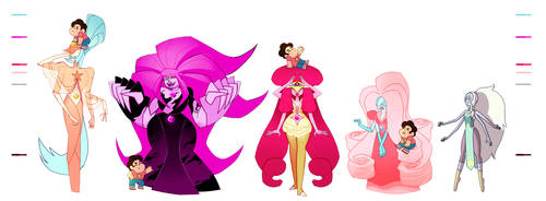 Steven Universe: Rose Fusions by dou-hong