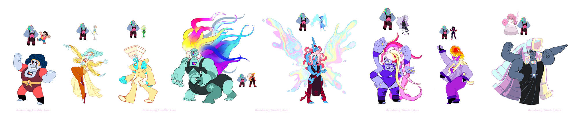 Steven Universe: Bismuth Fusions (added names)