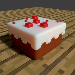 Minecraft Cake 2 by ZauberParacelsus