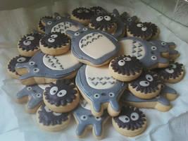 Totoro cookies by menarais