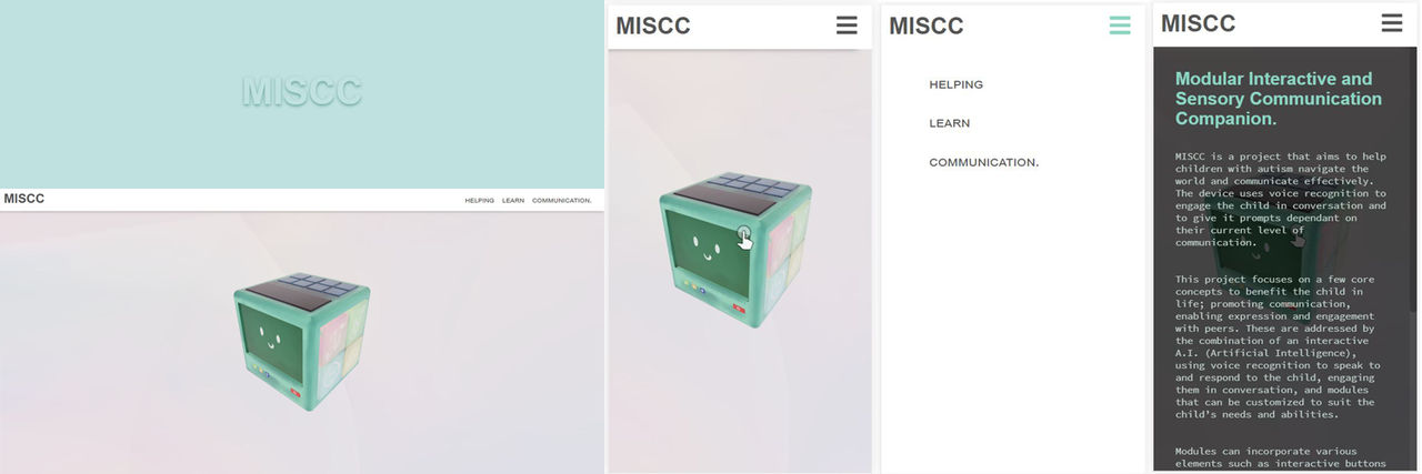 miscc website preview