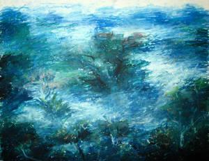 Landscape Study with Oil Pastel