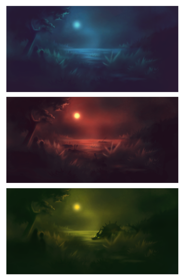 Three scenario studies  SPEEDPAINT by myshrinkingviolet
