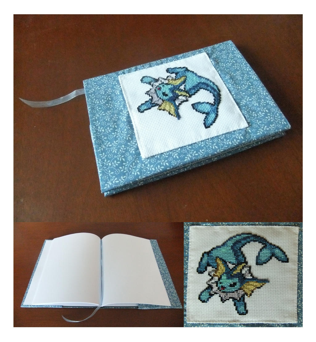 Vaporeon Notebook Cover by AlaskanAsh