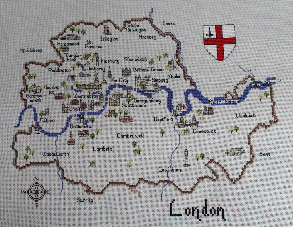 London Map by AlaskanAsh