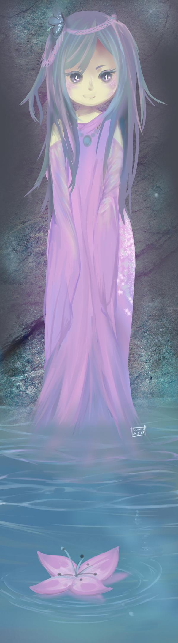A cave mermaid