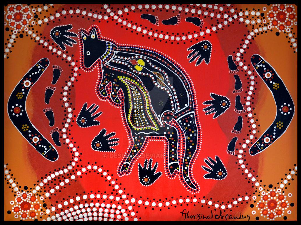 Aboriginal Art Print 1 by DesuDan