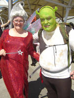 Fairy Godmother and Shrek by Deviant-Mutha