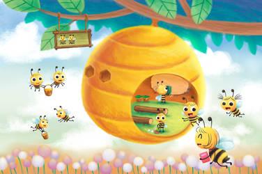 school of bees