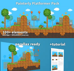 Painterly Platformer Pack!