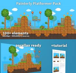 Painterly Platformer Pack! by RareVenom