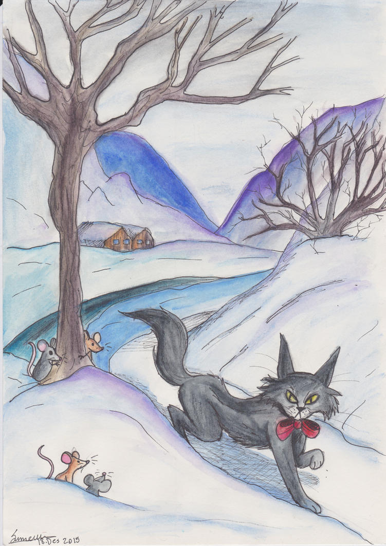 The Yule cat by icelandicghost on DeviantArt