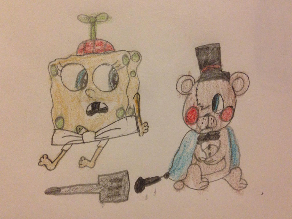 Baby Freddy Toys : Baby spongebob meets toy freddy by alyssafazbear on