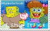 Musclebob X Girly Teen Girl Stamp by AlyssaFazbear