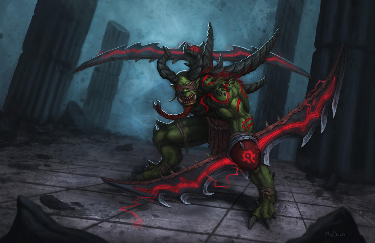 Orc demon hunter by MyDeads on DeviantArt