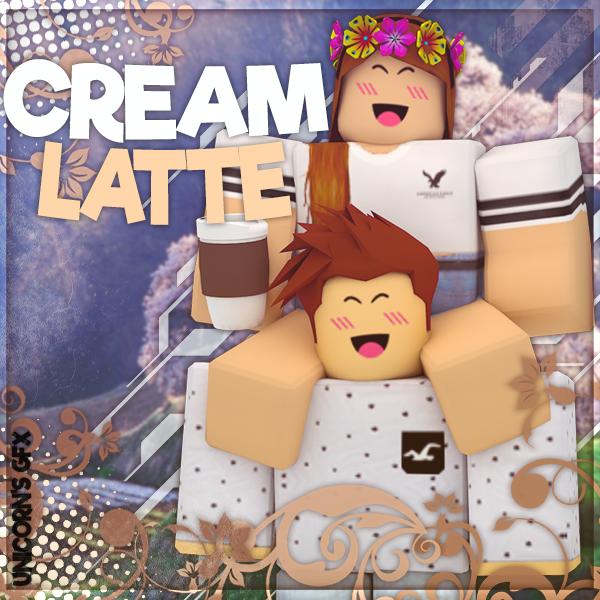 Gfx Cream Latte Logo Requested By Unicorngfxroblox On Deviantart