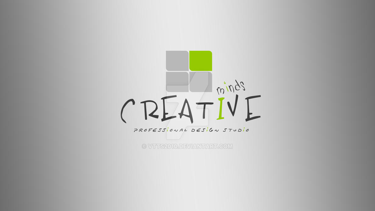 Creative Minds Logo Wallpaper By Vtts2010