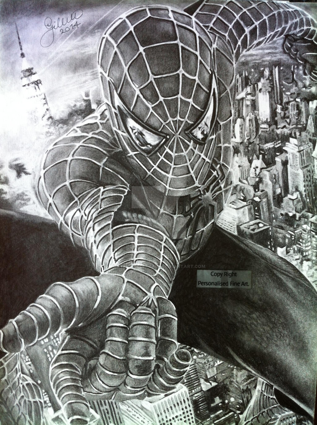 Uncategorized Drawings Of Spiderman spider man 2014 drawing by stevegillettart on deviantart stevegillettart