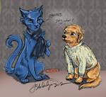 BBC Sherlock-Sherlock Cat and John Dog