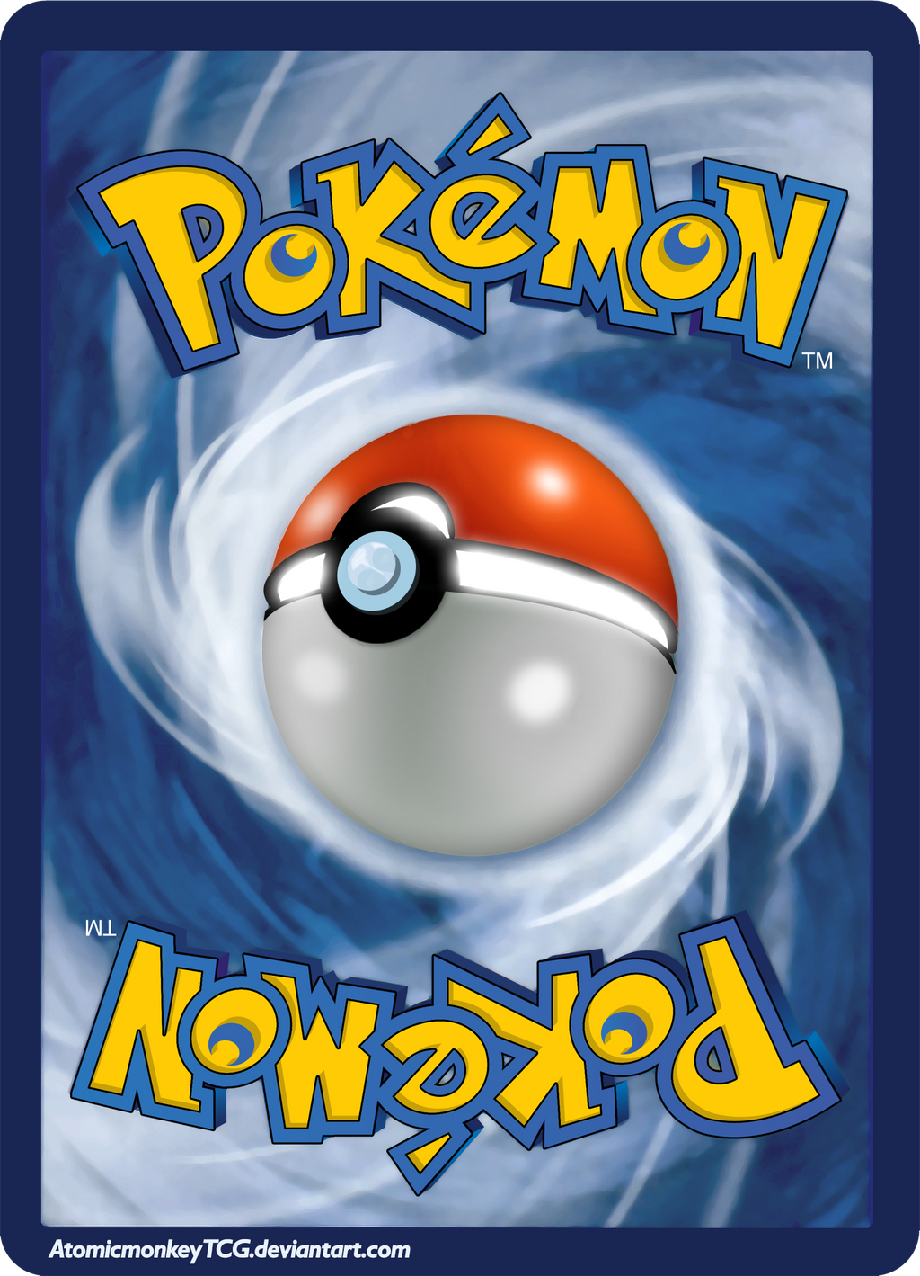 pokemon card backside in high resolution by atomicmonkeytcg on