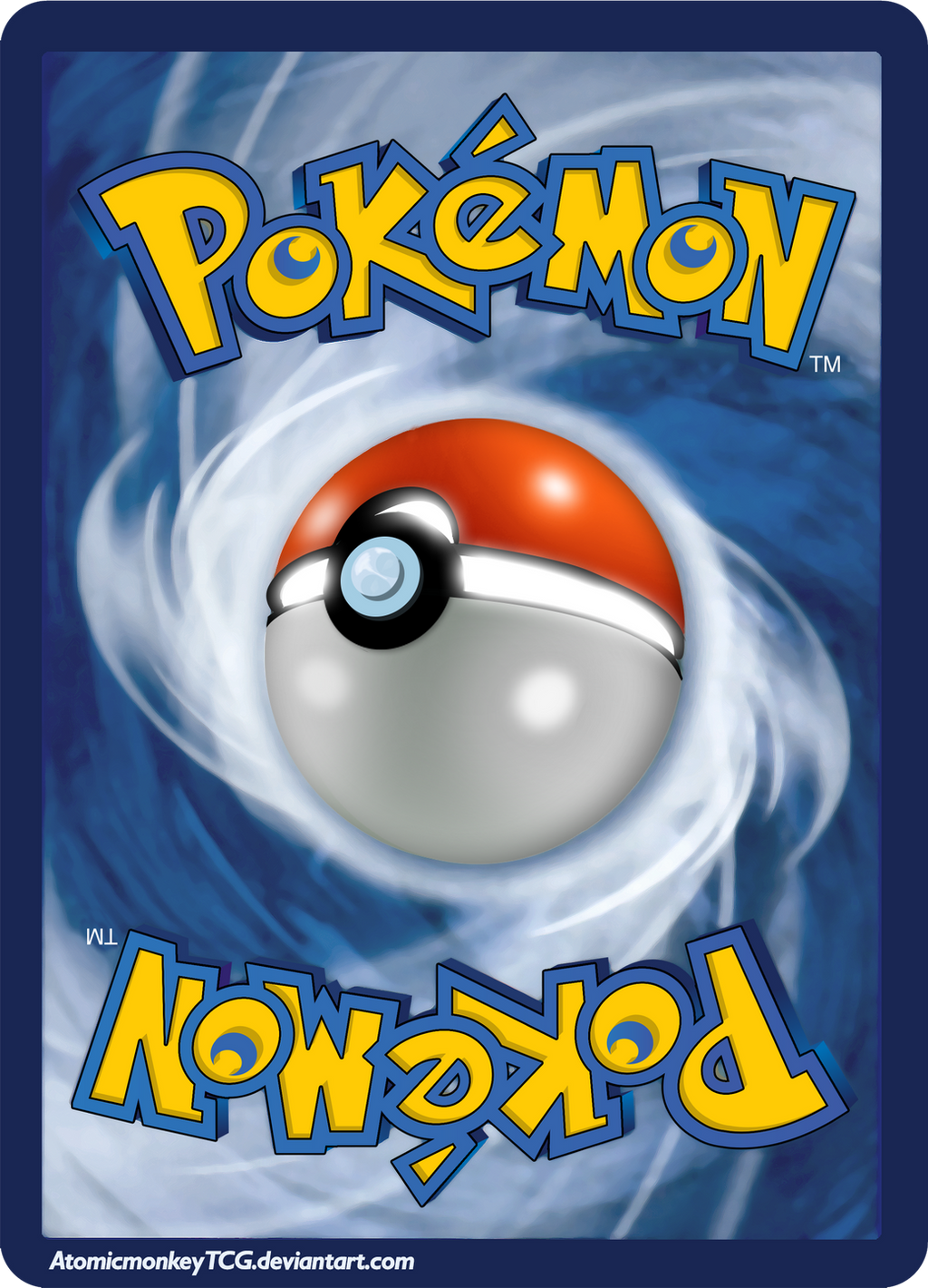 Pokemon Card Backside in High Resolution