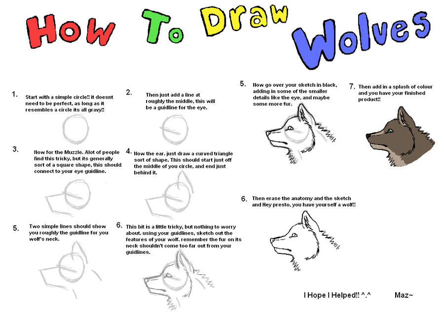 How To Draw Wolves Faces By Xxmaz Almightyxx On Deviantart