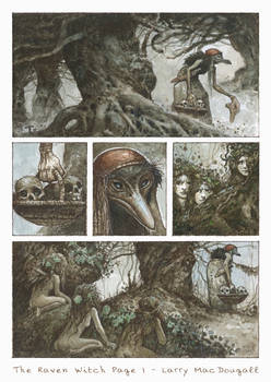 The Raven Witch - Graphic Novel Page