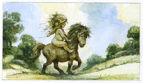 Nymph and Pony by bridge-troll