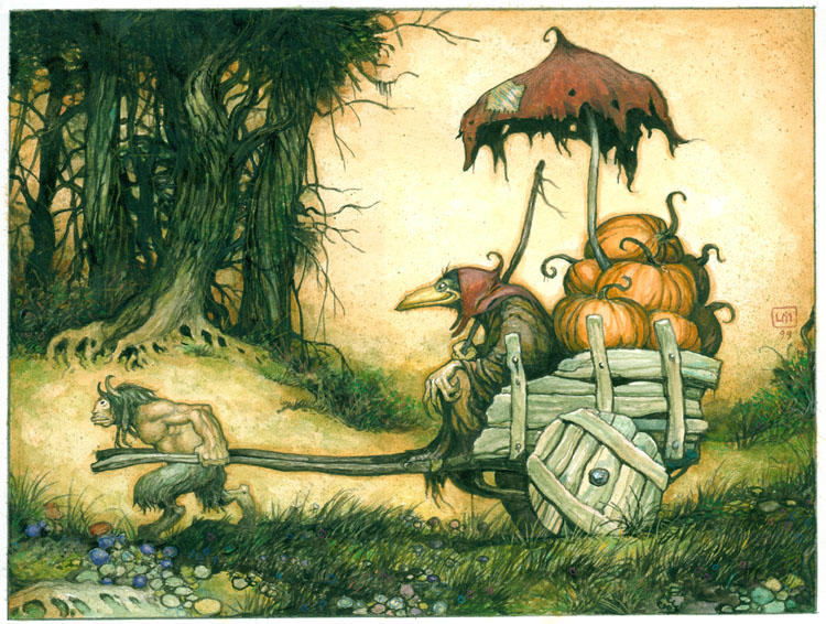 The Pumpkin Dealer by bridge-troll
