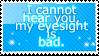 I Cannot Hear You Stamp. by BlueSeasGaurdian