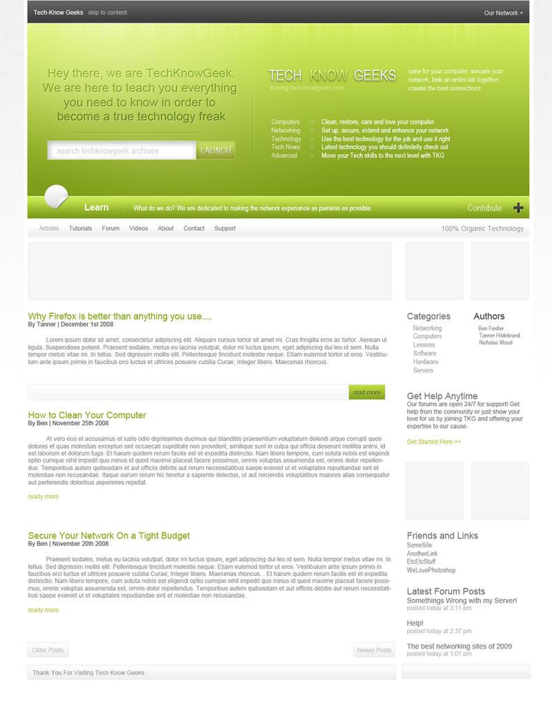 TKG Website by benchsketch