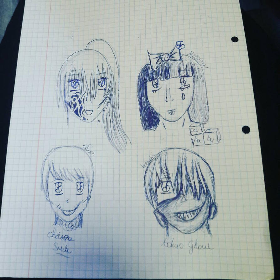 random drawings while class by izeratjuh