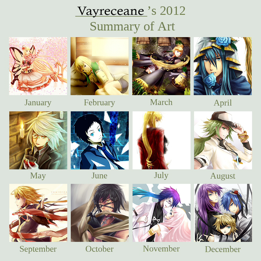 2012 Art Summary by Vayreceane