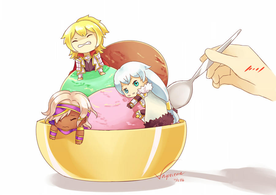 Brave Frontier - Ice Cream by Vayreceane