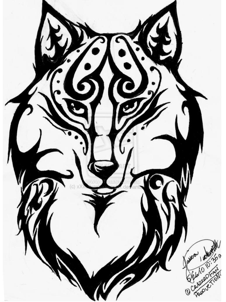 Galleries baby giraffe drawing baby giraffe coloring pages baby - Tribal Wolf Head Drawings Viewing Gallery