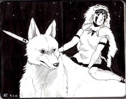 Moleskine #3 - Mononoke