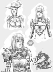Aki Machine sketches (GW2)