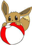 Eevee Noming Beach Ball