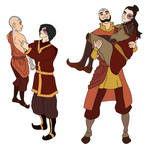 Aang and Zuko dynamic change by EevyLynn