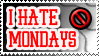 I hate mondays! Stamp by LW-Lucy