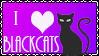 Iloveblackcats stamp