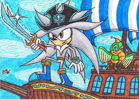:Pirate Hedgies: Long John Silver The Hedgehog by AceOfSpeed94